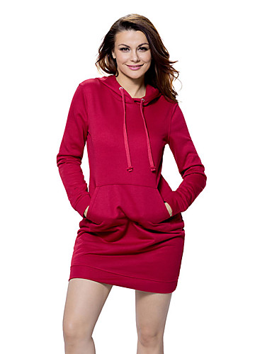 Women's Loose Dress - Solid High Rise Mini