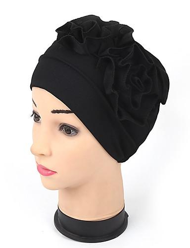 Kadın's Actif Naylon Kıvırılan Şapka-Büzgülü,Solid Doğal Pembe Gri Haki / Kumaş