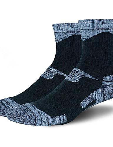 cheap Cycling Clothing-Compression Socks Sport Socks / Athletic Socks Cycling Socks Men's Yoga Hiking Climbing Bike / Cycling Warm Camping & Hiking Anatomic Design 1 Pair Cotton Spandex Chinlon Black Gray Dark Gray L-XL