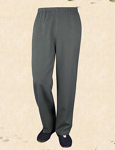 Men's Mid Rise Micro-elastic Straight Active Pants,Active Relaxed Solid