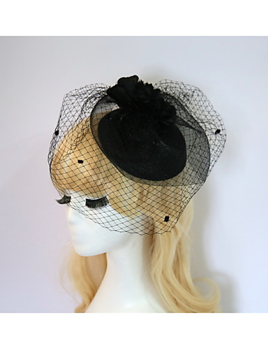 abordables Chapeau & coiffure-Résine / Coton Fascinators / Chapeaux avec 1 Mariage / Occasion spéciale / Fête / Soirée Casque