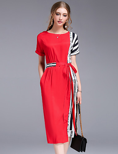 Women's Going out Daily Work Simple Street chic Loose Sheath Dress