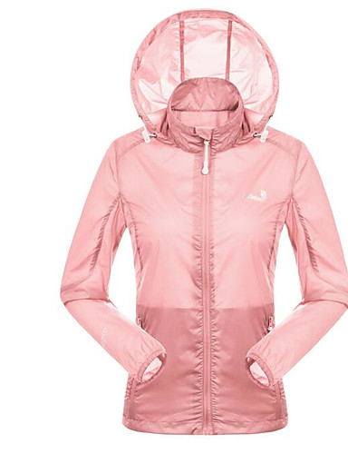 Women's Sports Modern/Comtemporary Spring/Fall Jacket,Solid Hooded Long Sleeve Short Polyster
