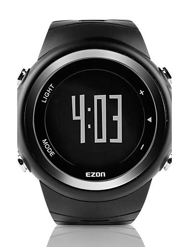 Men's Sport Watch Digital Rubber Band Black