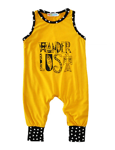 Baby Boys' Print Sleeveless Cotton Overall & Jumpsuit
