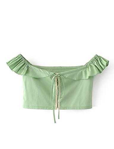 Women's Cotton Linen Polyester Shirt,Solid