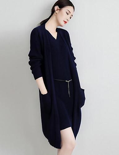 Women's Daily Casual Long Cardigan