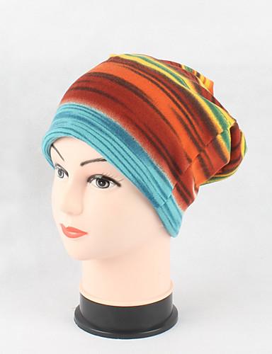 Women's Headwear / Chic & Modern / Knitwear Cotton Beanie / Slouchy / Floppy Hat Stripe / Print / Cute
