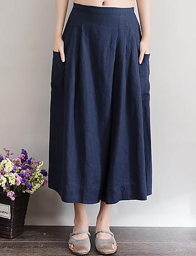 Women's Medium Waist Inelastic Bootcut Wide Leg Relaxed Pants,Simple Bootcut Wide Leg Relaxed Solid