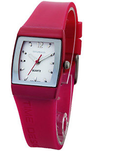Women's Fashion Watch Quartz Water Resistant / Water Proof Rubber Band Red Green Purple