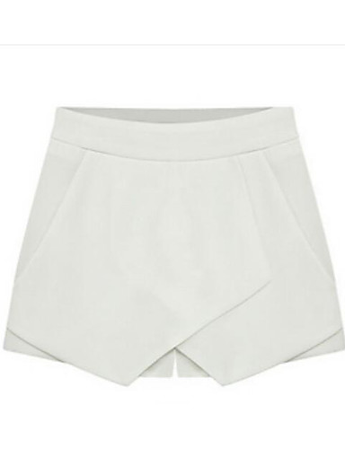 Women's Mid Rise Micro-elastic Shorts Pants,Simple Straight Solid