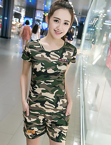 Women's Casual Hoodie - Camouflage Pant / Summer