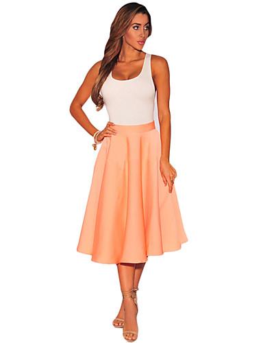 Women's Beach School Daily Holiday Knee-length Skirts