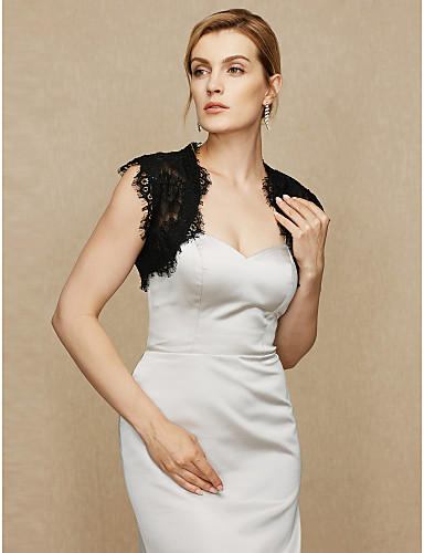 76803b8fd075d Lace Wedding / Party / Evening Women's Wrap With Lace Shrugs