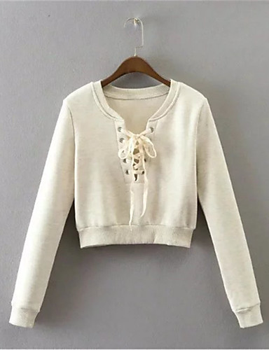 Women's Maternity Going out Daily Sweatshirt Solid Round Neck Micro-elastic Cotton Long Sleeve Winter Spring Fall