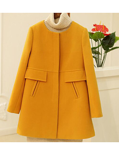 Women's Simple Casual Trench Coat-Solid Colored