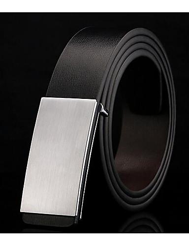 حزام خصر سبيكة أبيض أسود كلاسيكي للرجال