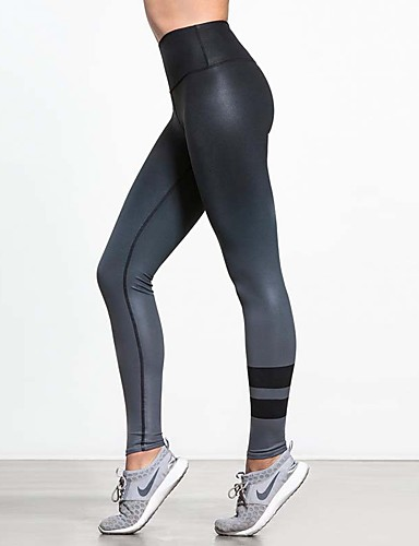Women's Print Legging - Print, Color Gradient