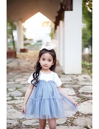 Mädchen Kleid einfarbig Baumwolle Ärmellos