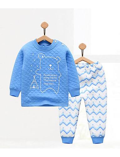 Baby Kinder Lässig/Alltäglich Geometrisch Kleidungs Set Herbst Winter