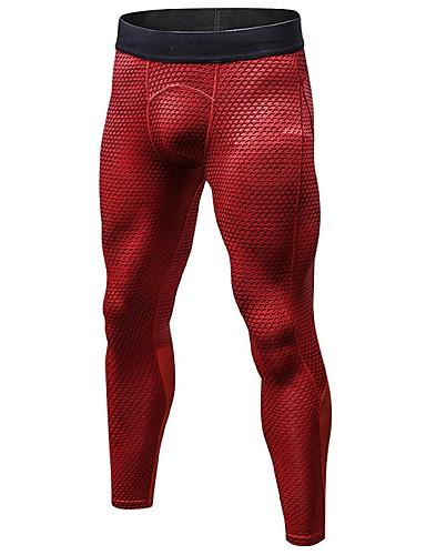 povoljno Kompresivna odjeća-Muškarci 3D Kompresijske hlače Futónadrág Tajice za teretanu Sportski Geometrijski oblici Kompresivna odjeća Biciklizam Hulahopke Trčanje Fitness Bicikl Odjeća za rekreaciju Mala težina Prozračnost