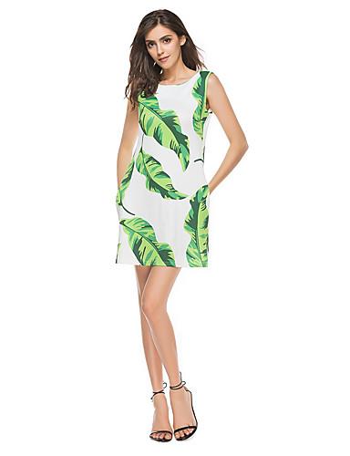 Damen Strand Hülle Kleid - Druck Hohe Hüfthöhe