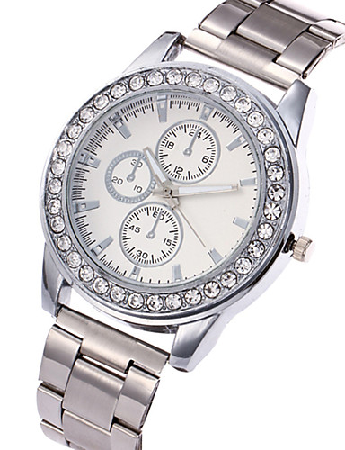 Women's Wrist Watch Casual Watch / Cool Stainless Steel Band Charm / Luxury / Casual Silver / Gold / Rose Gold / One Year / SSUO LR626