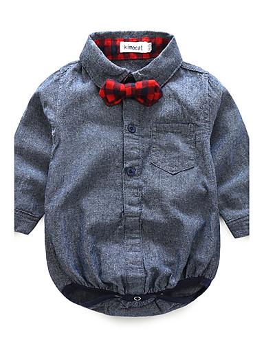 Baby Jungen Zum Kleid Lässig / Alltäglich Modisch Langarm Baumwolle Kleidungs Set