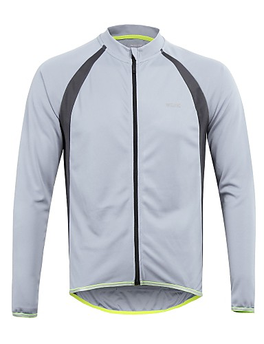 cheap Cycling Clothing-Arsuxeo Men's Long Sleeve Cycling Jersey - Red Green Blue Bike Jersey Top Reflective Strips Sports 100% Polyester Mountain Bike MTB Road Bike Cycling Clothing Apparel / Stretchy