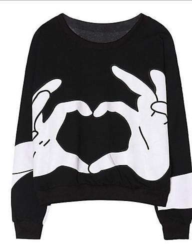 Damen Ausgehen Grundlegend Pullover - Druck, Einfarbig / Sommer