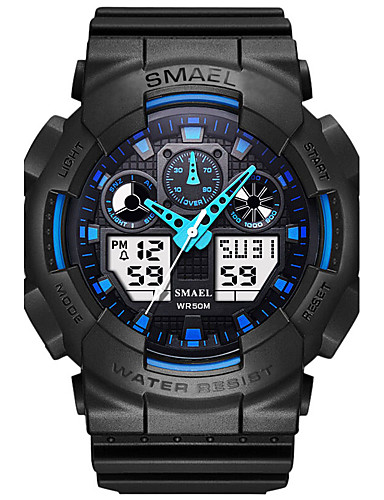 SMAEL Men's Sport Watch Chinese Water Resistant / Water Proof / Stopwatch / Noctilucent PU Band Black