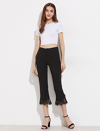 Women's Straight Chinos Pants - Solid Lace, Lace