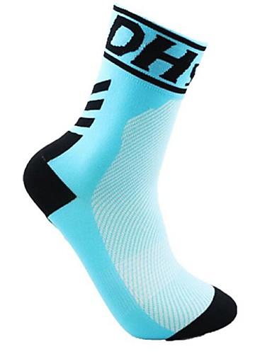 cheap Cycling Clothing-Compression Socks Sport Socks / Athletic Socks Cycling Socks Men's Women's Cycling / Bike Running Bike / Cycling Lightweight Anatomic Design Breathability 1 Pair Nylon Spandex LightBlue Light Yellow