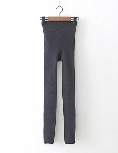 Damen Sexy Street Schick Mittlere Hüfthöhe Mikro-elastisch Eng Chinos Hose,Baumwolle Andere Frühling Sommer Herbst Solide