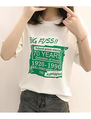 Damen Druck - Einfach T-shirt