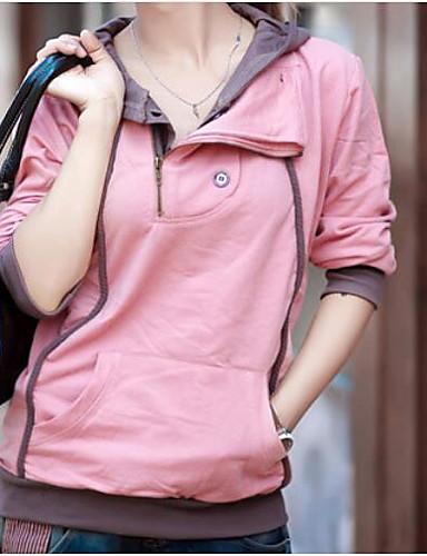 Damen Kapuzenshirt Lässig/Alltäglich Einfach Solide Druck Buchstabe Mikro-elastisch Baumwolle Polyester Lange Ärmel Herbst