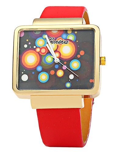 Herrn Armbanduhr Modeuhr Armbanduhren für den Alltag Chinesisch Quartz Leder Band Freizeit Cool Schwarz Weiß Rot Braun