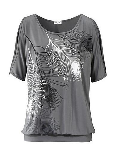Damen Druck Retro Ausgehen T-shirt,Rundhalsausschnitt Kurzarm Andere