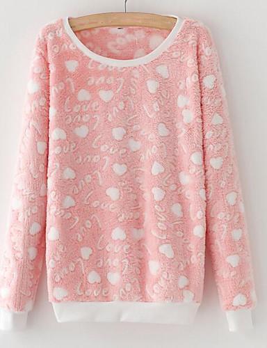 Damen Pullover Lässig/Alltäglich Druck Rundhalsausschnitt Unelastisch Baumwolle Langärmelige Herbst Winter