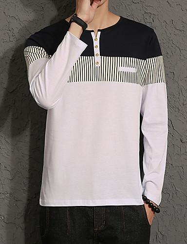 Herrn Solide - Chinoiserie Baumwolle T-shirt, Rundhalsausschnitt