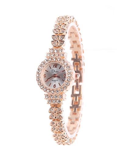 Női Karóra Szimulált Gyémánt Karóra Kvarc utánzat Diamond ötvözet Zenekar Analóg Amulett Heart Shape Alkalmi Ezüst / Arany / Vörös arany - Ezüst / fekete Arany / Ezüst Vörös arany