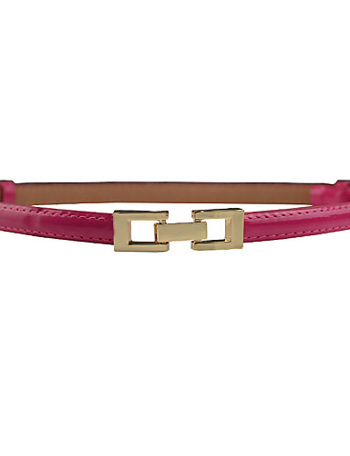 Women's Dress Belt Alloy Buckle - Solid Colored Fashion