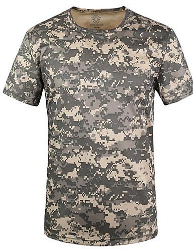 Herren Solide Gestreift Geometrisch Aktiv Ausgehen T-shirt,Hemdkragen Halbe Ärmel Baumwolle Leinen Polyester