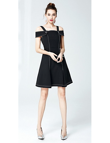 Women's Going out Sheath Dress - Solid Colored Strap