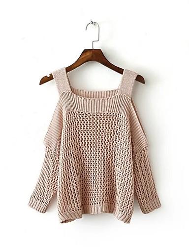 Damen Standard Pullover-Lässig/Alltäglich Ausgehen Einfach Solide Gurt Ärmellos Baumwolle Polyester Frühling Herbst Mittel Dünn