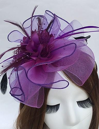 abordables Chapeau & coiffure-Plume / Filet Bandeaux / Fascinators avec 1 Mariage / Fête / Soirée Casque
