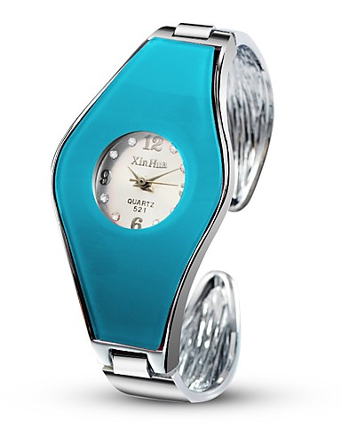 Women's Wrist Watch Quartz Casual Watch Alloy Band Analog-Digital Bangle Fashion Unique Creative Watch Silver - Blue Pink Light Blue