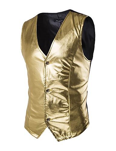 Men's Party Cotton Slim Vest - Solid Colored