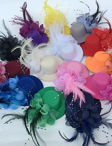 abordables Chapeau & coiffure-Tulle / Plume Fascinators / Fleurs / Chapeaux avec Fleur 1pc Mariage / Occasion spéciale / Fête / Soirée Casque
