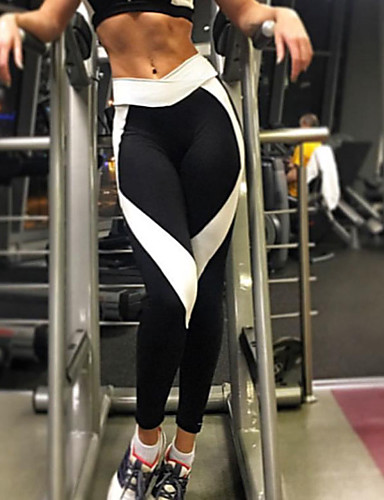 Women's Sporty Legging - Color Block Mid Waist